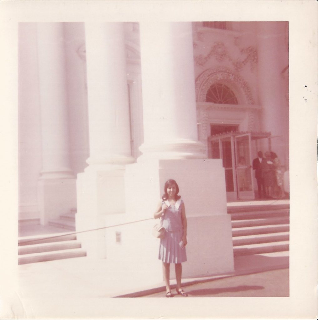 Norma in front of the White House