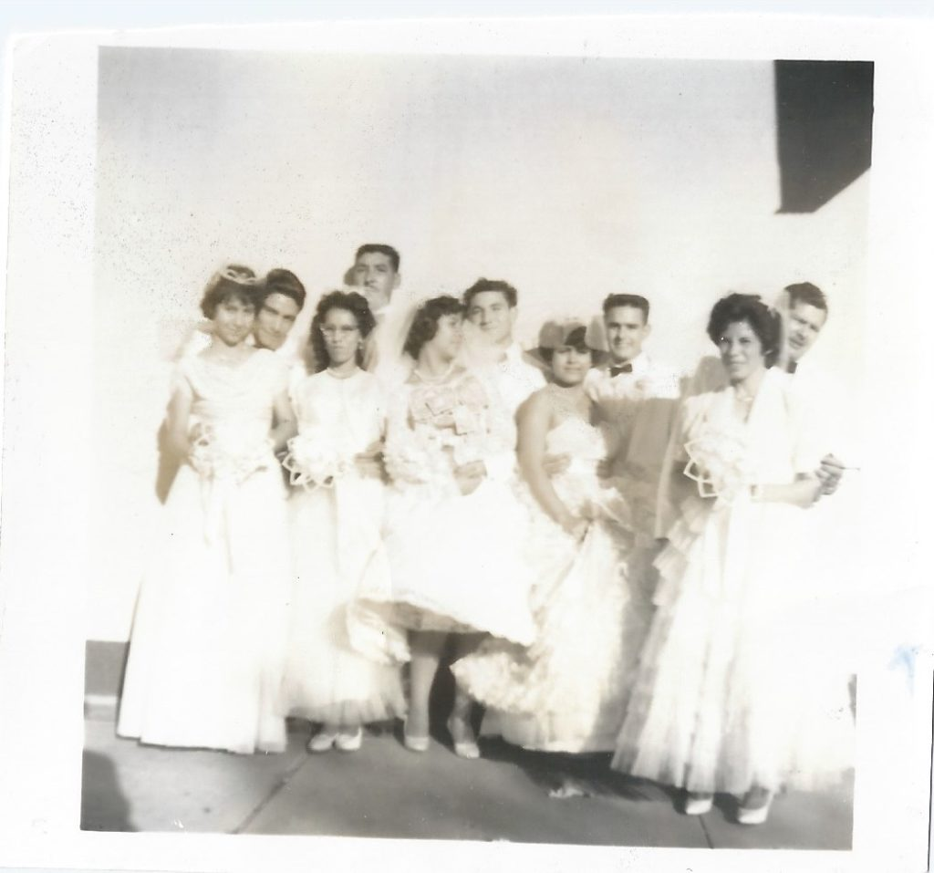 Norma's prom photo with friends