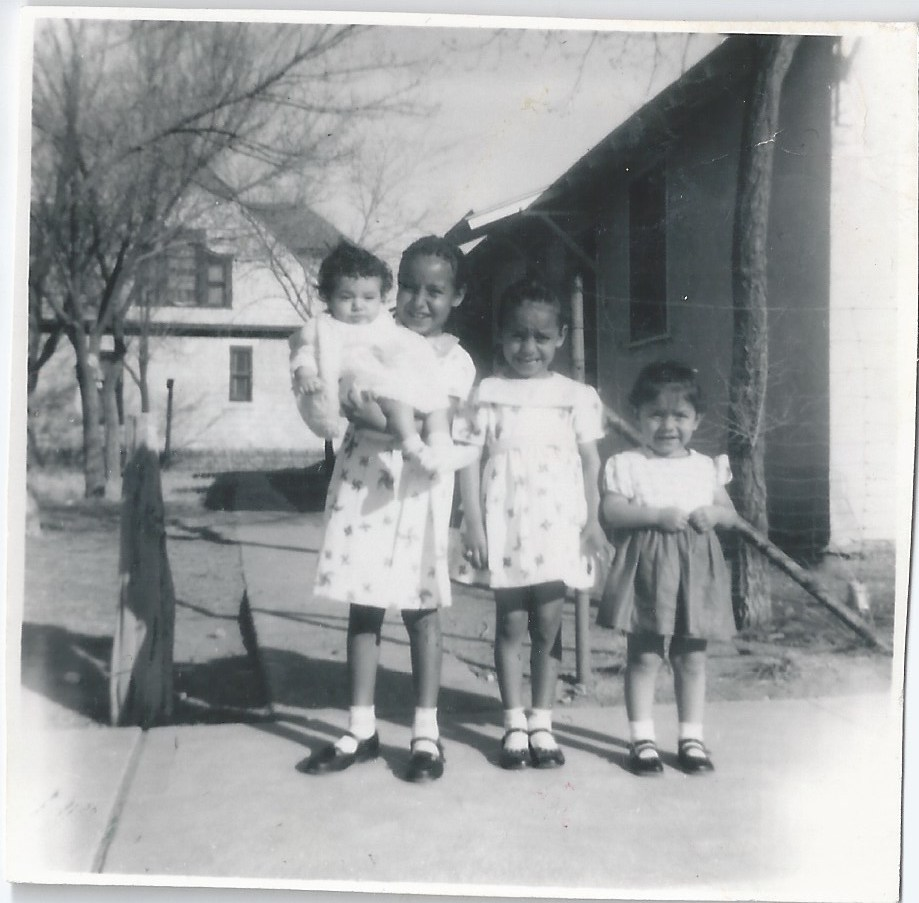 Norma with two sisters and cousin