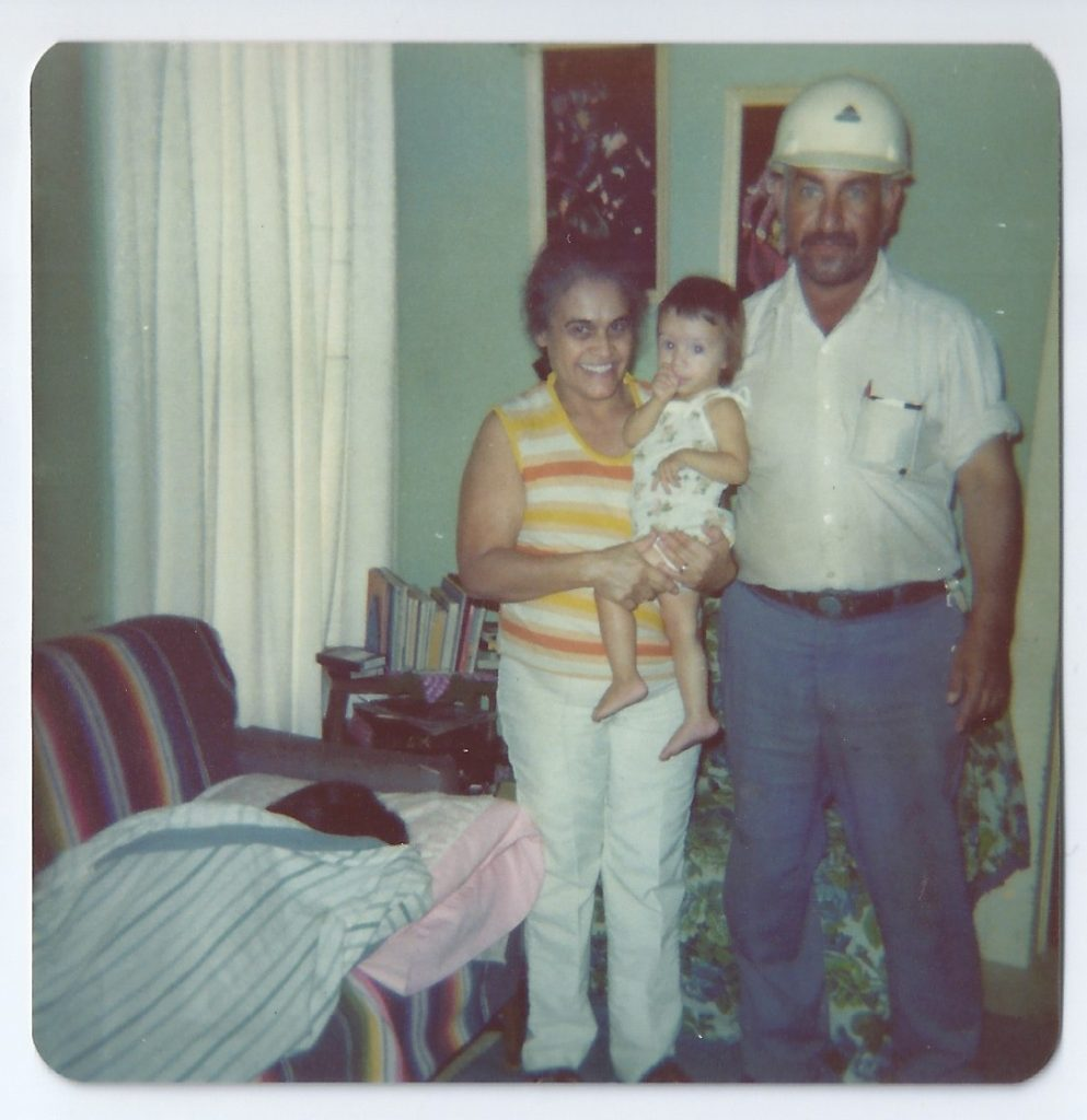 grandma, grandpa, older sister
